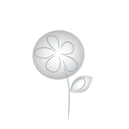 The Abstract gray flower.It Is Insulated on white background. Illustration