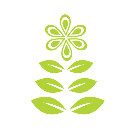 The Logo flower. It Is Insulated on white background.