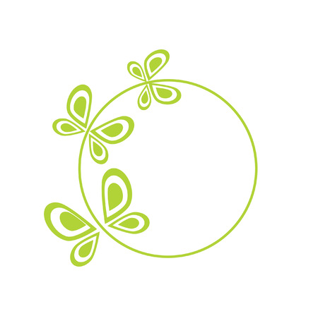 Logo butterfly. It Is Insulated on white background.