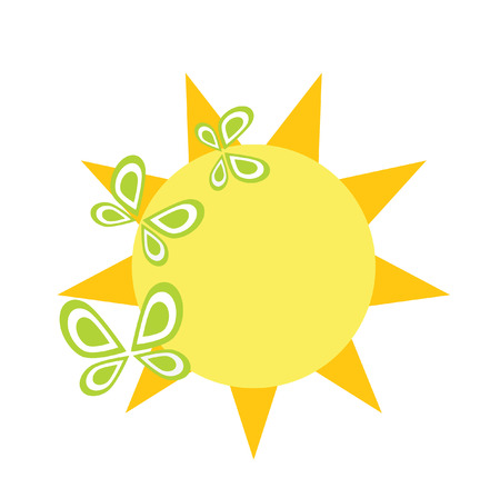 Logo sun. It Is Insulated on white background. Stock Vector - 8458152