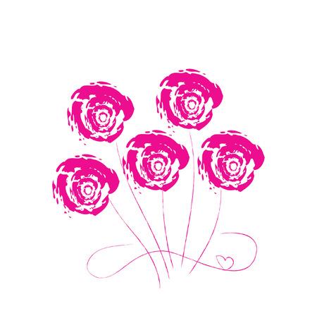 Logo flowerses. It Is Insulated on white background. Illustration