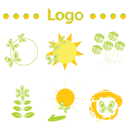 Logo sun. It Is Insulated on white background.
