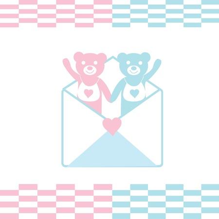 The Festive postcard. The Frame and teddy bears.