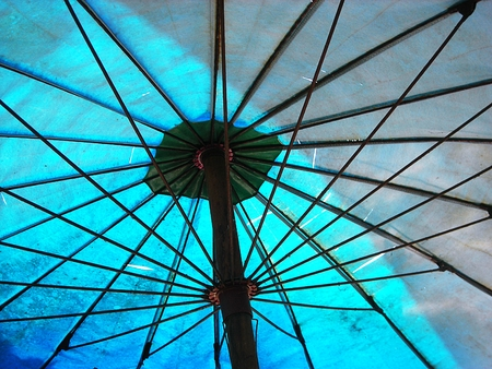 polychromatic: outdoor Umbrella  Abstract background