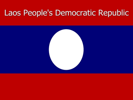 peoples: Laos Peoples Democratic Republic flag background