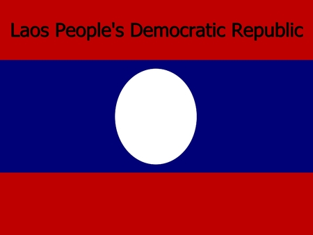 democratic: Laos Peoples Democratic Republic flag background