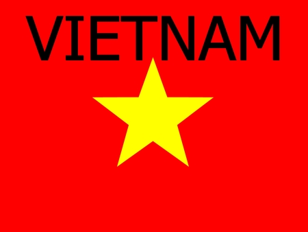 vietnam flag: Socialist Republic of Vietnam flag background Stock Photo