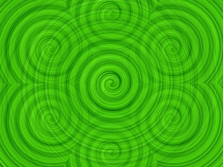 Abstract circles art background. swirl pattern Green