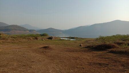 Views of river and ground. Standard-Bild