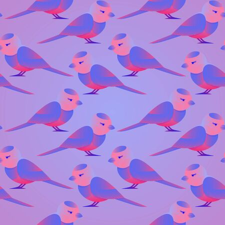 seamless background with a pattern of birds, to decorate childrens goods