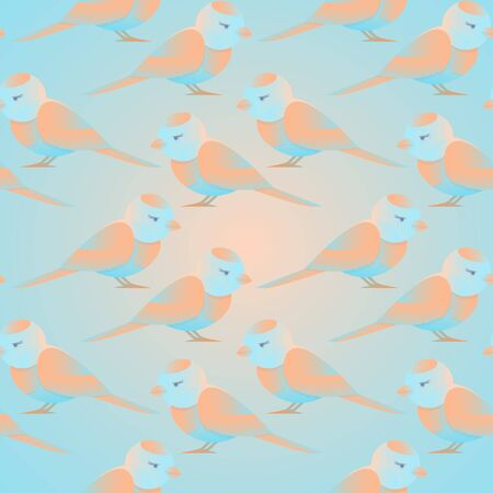 seamless background with bird pattern for decorating baby products Ilustracja