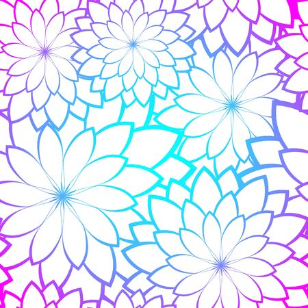 delicate floral seamless background in lilac color scheme