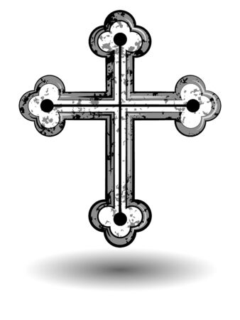 religious cross, symbol of Christianity and faith Ilustracja