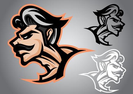 muay thai: warrior thai logo vector emblem illustration design idea creative muay thai