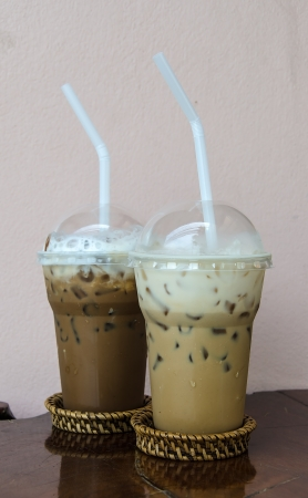 Ice Coffee latte and Ice Coffee mocca Stock Photo - 15638726