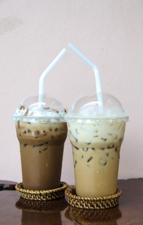 Ice Coffee latte and Ice Coffee mocca photo