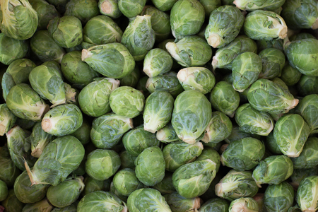 Brussels sprouts fresh green vegetables background