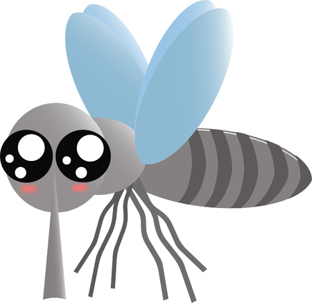 Cute mosquito icon Illustration