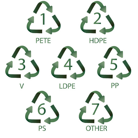plastic recycling digits Vector illustration.