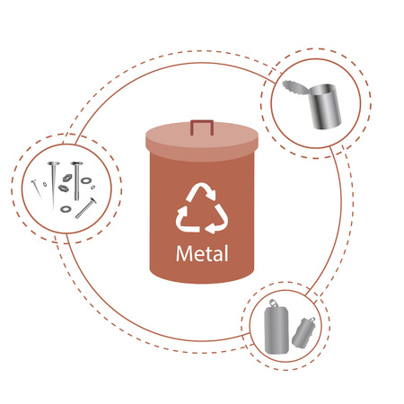 separate metal collection container.
