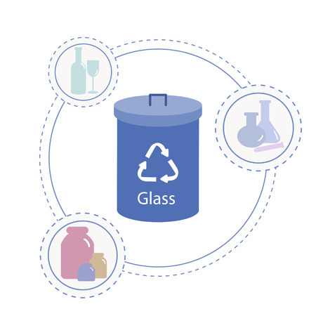 separate glass collection container.