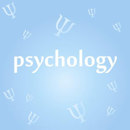 Inscription psychology on the background of psy icons