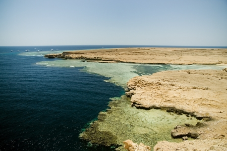 Southern coast of the Sinai Peninsula  The reserve of Ras Mohamed  photo