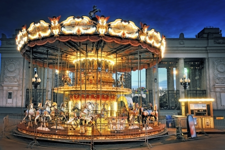 children's: Children s Carousel at the Park of Culture  Gorky  Moscow