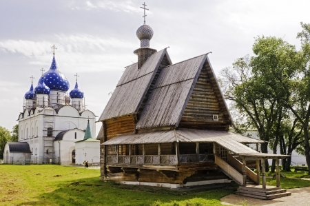 Russian Wooden Church  Suzdal  Stock Photo