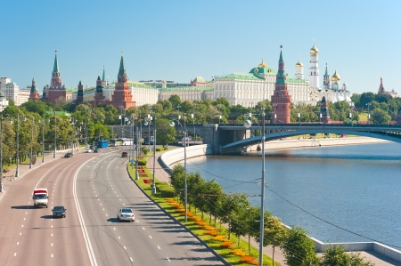 View of the Kremlin from the Patriarchal Bridge. Moscow