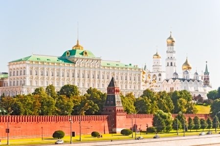 View of the Grand Kremlin Palace and the Ivan the Great Bell. Moscow Stock Photo