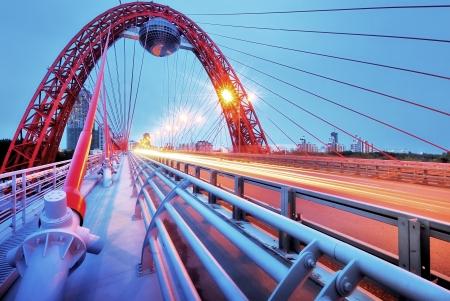 Picturesque bridge, observation deck, restaurant ellipsoid  Moscow Imagens - 15302707