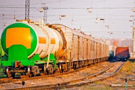 tank for liquefied gas and dangerous substances on the tracks