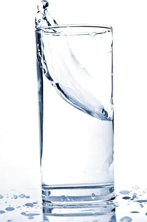 water splash in a glass Standard-Bild