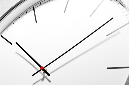 Dial office wall clock in a classic style, close-up