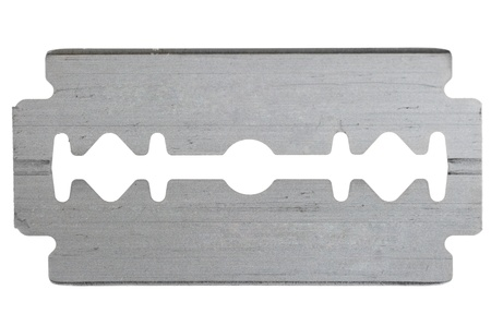 sharp steel blade razor on a white background photo