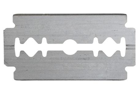 sharp steel blade razor on a white background Stock Photo
