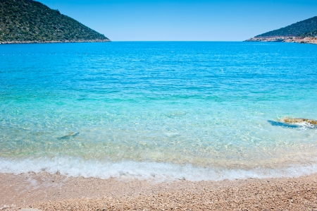 idealistic: idealistic sea cove with turquoise water