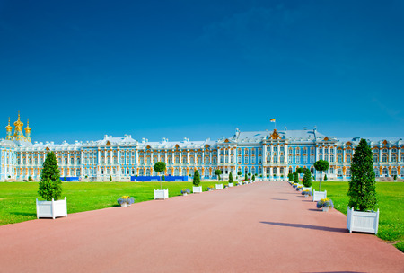 famous Catherine Palace in St. Petersburg