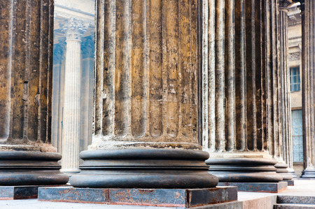 colonnade known Kazan Cathedral in St  Petersburg Stock Photo