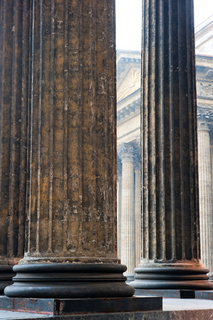 Vertical shot colonnade of the Kazan Cathedral Stock Photo