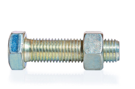 screw thread of the bolt and nut photo