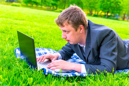 work in the park outdoors in Internet photo