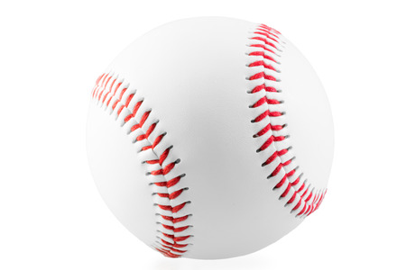new ball for the game of baseball on a white background photo