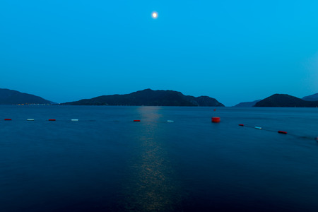 moonwalk: beautiful seascape at night under the moon
