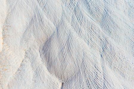 white lime deposits in Pamukkale closeup Stock Photo
