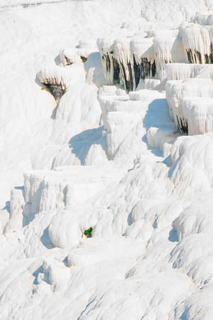 carbonates: snow-white face of the mountain in Pamukkale, Turkey Stock Photo