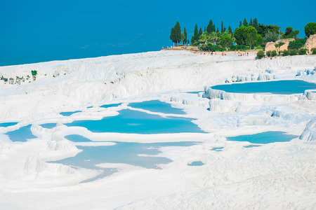 natural landmark: Very nice view of Pamukkale. natural landmark of Turkey