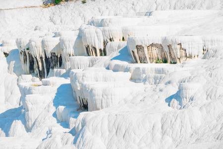carbonates: parched basins of Pamukkale in Turkey