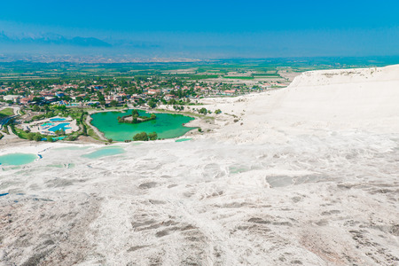 carbonates: Good clear weather and a beautiful view from the top of Pamukkale